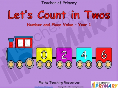 Counting in Multiples of Twos Train