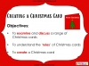 Creating a Christmas Card (slide 2/21)