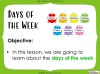 Days of the Week - Year 1 (slide 2/60)