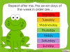 Days of the Week - Year 1 (slide 20/60)
