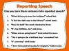 Direct and Reported Speech (slide 10/13)