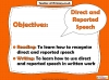 Direct and Reported Speech (slide 2/13)