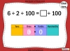 Dividing One and Two Digit Numbers by 100 - Year 4 (slide 14/32)