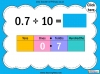 Dividing One and Two Digit Numbers by Ten - Year 4 (slide 10/32)
