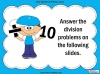Dividing One and Two Digit Numbers by Ten - Year 4 (slide 11/32)