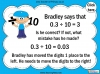 Dividing One and Two Digit Numbers by Ten - Year 4 (slide 17/32)