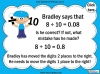 Dividing One and Two Digit Numbers by Ten - Year 4 (slide 18/32)