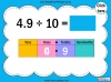 Dividing One and Two Digit Numbers by Ten - Year 4 (slide 26/32)