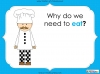 Eating Healthy Food - KS1 (slide 3/40)