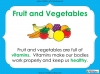 Eating Healthy Food - KS1 (slide 8/40)