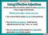 Effective Adjectives (slide 8/11)