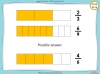 Equivalent Fractions - Year 4 (slide 25/100)