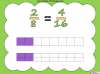 Equivalent Fractions - Year 5 (slide 23/70)
