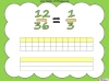 Equivalent Fractions - Year 5 (slide 25/70)
