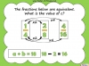 Equivalent Fractions - Year 5 (slide 64/70)