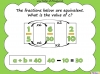 Equivalent Fractions - Year 5 (slide 65/70)