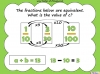 Equivalent Fractions - Year 5 (slide 66/70)