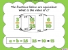 Equivalent Fractions - Year 5 (slide 67/70)