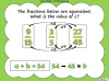 Equivalent Fractions - Year 5 (slide 68/70)
