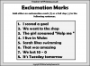 Exclamation Marks (slide 6/10)