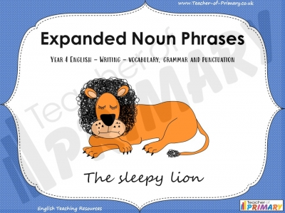 Expanded Noun Phrases - Year 4