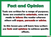 Fact and Opinion (slide 5/8)