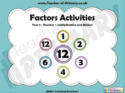 Factors Activities - Year 5
