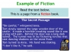 Fiction and Non-fiction (slide 6/8)