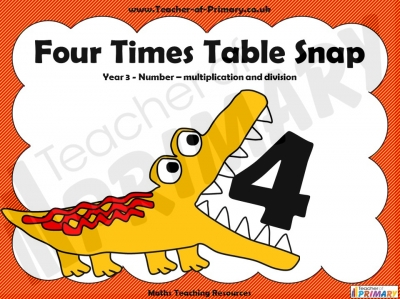 Four Times Table Snap
