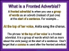 Fronted Adverbials (slide 8/21)
