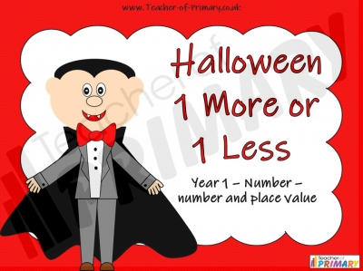 Halloween 1 More or 1 Less teaching resource