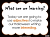 Halloween Adjectives (slide 2/26)