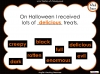 Halloween Adjectives (slide 24/26)