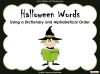 Halloween Words - Using a Dictionary (slide 1/34)
