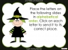 Halloween Words - Using a Dictionary (slide 12/34)