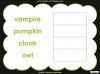 Halloween Words - Using a Dictionary (slide 24/34)