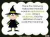 Halloween Words - Using a Dictionary (slide 29/34)