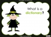 Halloween Words - Using a Dictionary (slide 3/34)