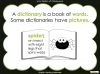 Halloween Words - Using a Dictionary (slide 4/34)
