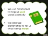 Halloween Words - Using a Dictionary (slide 6/34)