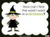 Halloween Words - Using a Dictionary (slide 8/34)