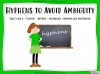 Hyphens to Avoid Ambiguity - Year 5 and 6 (slide 1/28)