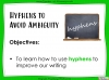 Hyphens to Avoid Ambiguity - Year 5 and 6 (slide 2/28)