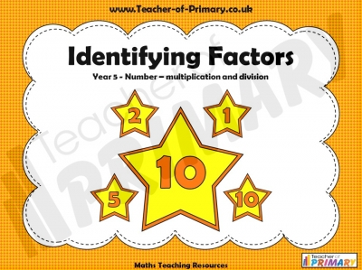 Identifying Factors - Year 5