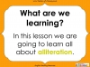 Introducing Alliteration - KS1 (slide 2/13)