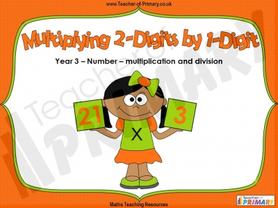 Introducing Multiplying 2-Digits by 1-Digit - Year 3