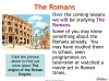 Introducing The Romans (slide 3/11)