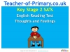 KS2 SATs English Reading - Thoughts and Feelings (slide 1/28)