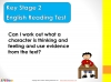 KS2 SATs English Reading - Thoughts and Feelings (slide 2/28)