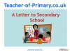 Letter to secondary school (slide 1/48)
